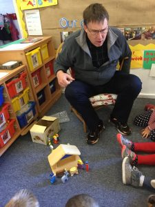 Rev. Ian Hill shared the Christmas story with Nursery class